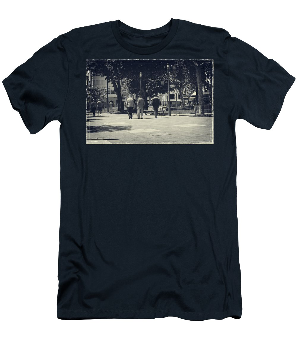 Stroll Men's T-Shirt (Athletic Fit) featuring the photograph The Passage Of Time by Lucinda Walter