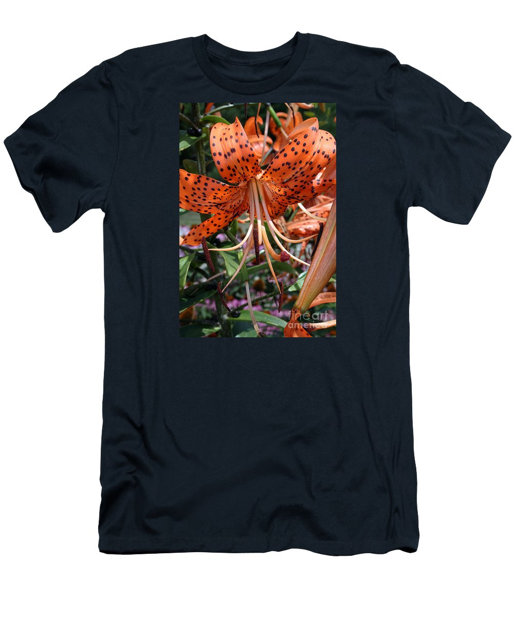 Ffower Men's T-Shirt (Athletic Fit) featuring the photograph Tiger Lily by Kathy DesJardins