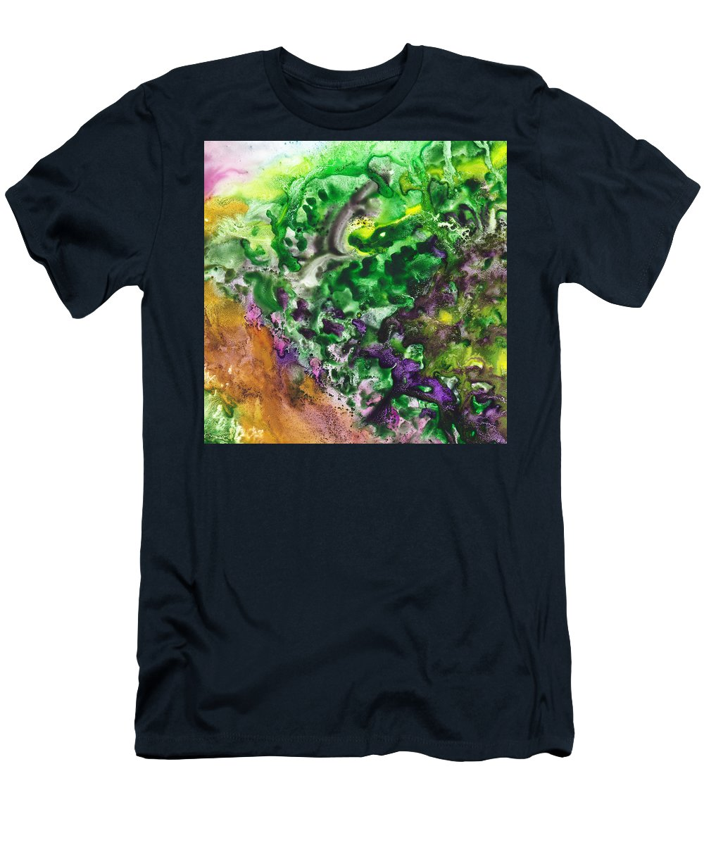 Abstract Men's T-Shirt (Athletic Fit) featuring the painting To The Unknown Abstract Path Number Four by Irina Sztukowski