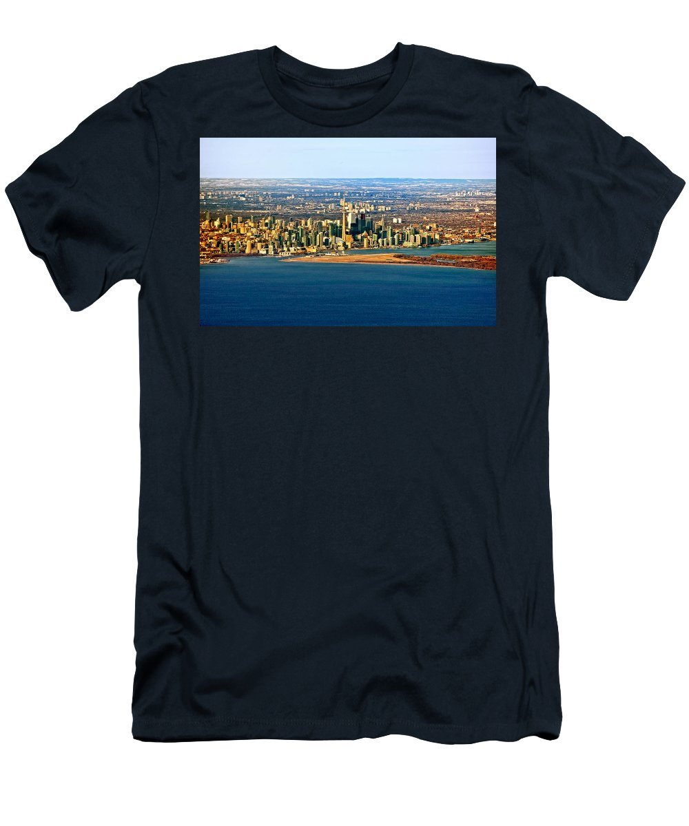 Toronto Men's T-Shirt (Athletic Fit) featuring the photograph Toronto 2 by Steve Harrington