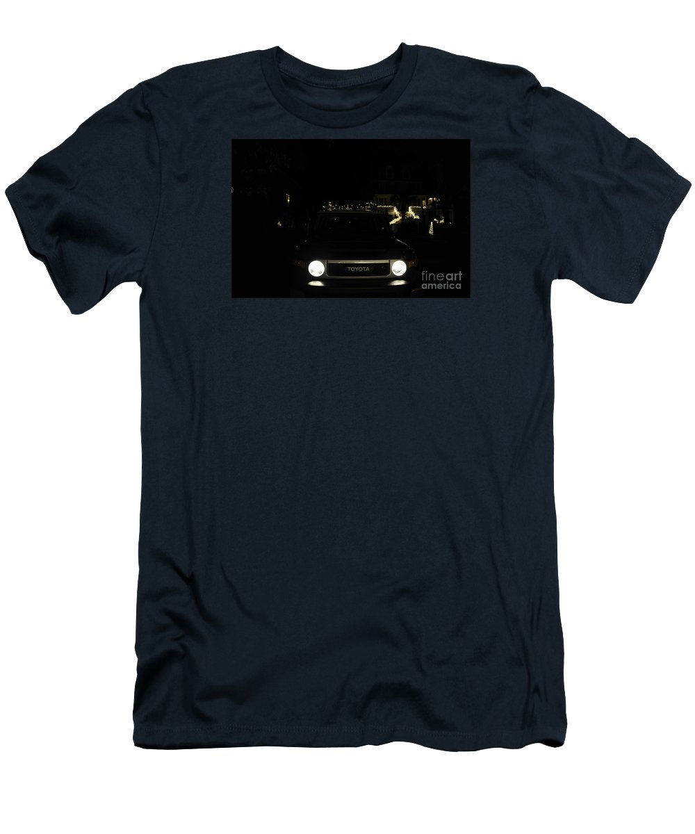 Toyota Men's T-Shirt (Athletic Fit) featuring the photograph Toyota Fj Holiday Lights by Dale Powell