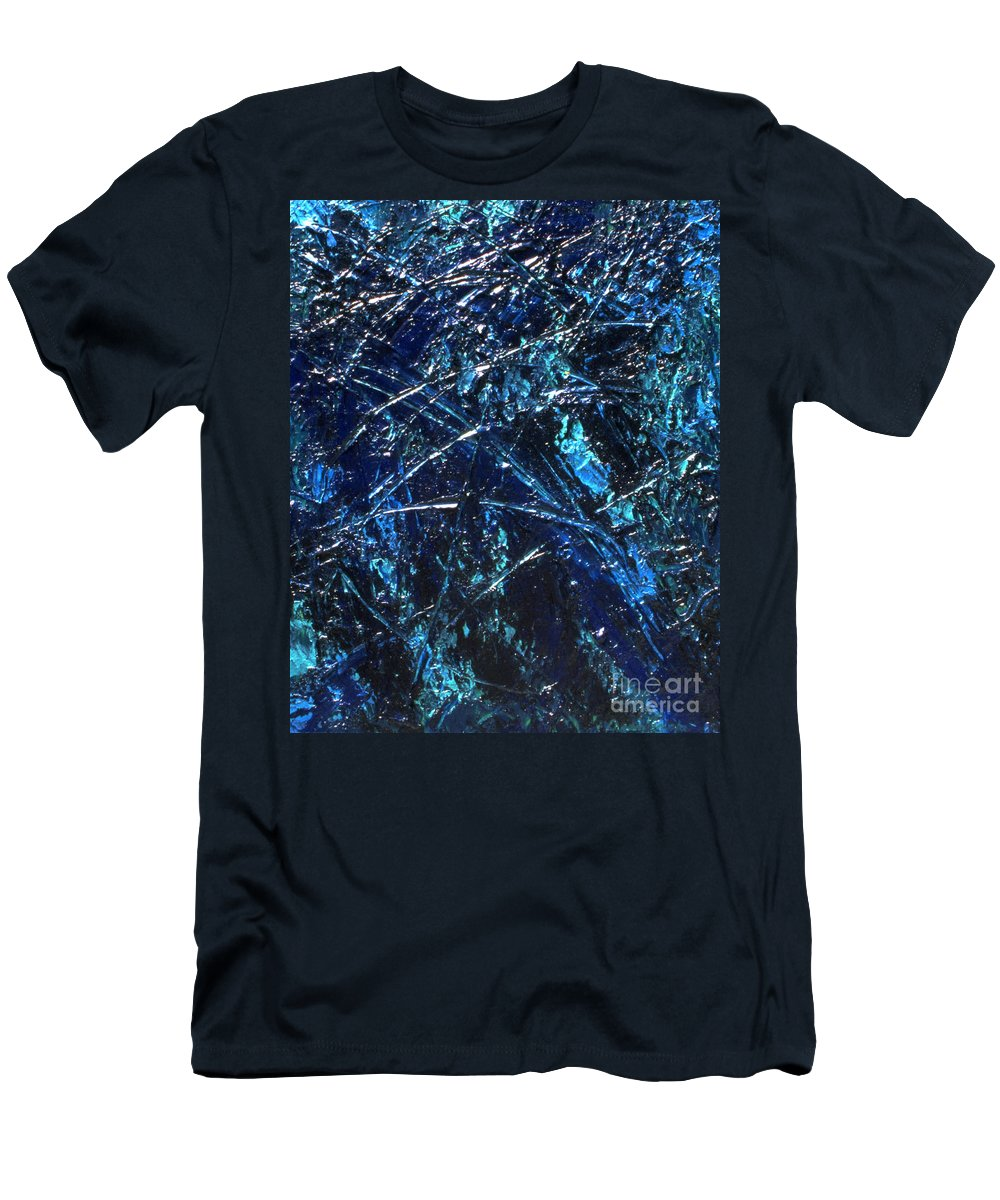 Abstract Men's T-Shirt (Athletic Fit) featuring the painting Transitions I by Dean Triolo