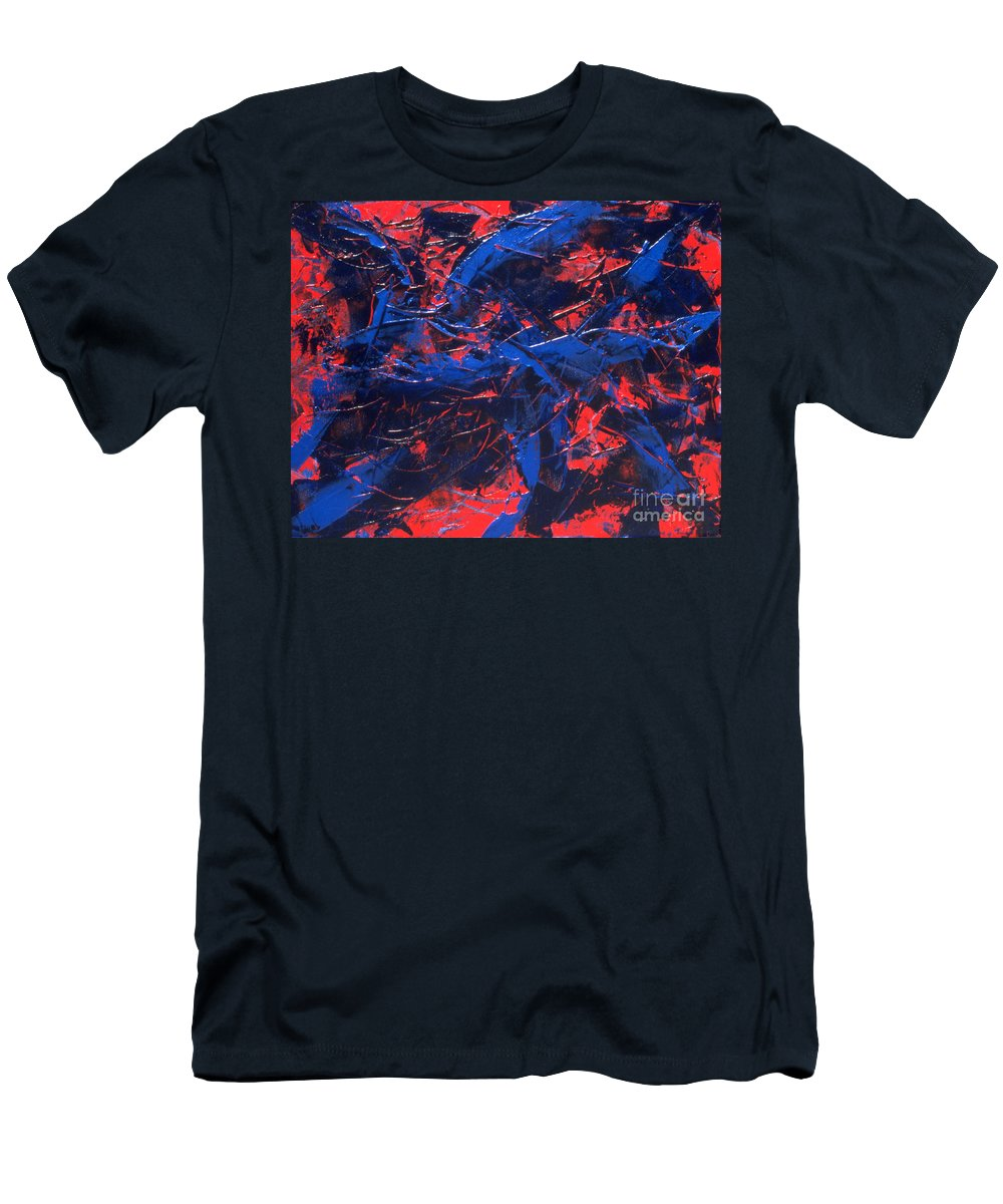 Abstract Men's T-Shirt (Athletic Fit) featuring the painting Transitions Iv by Dean Triolo