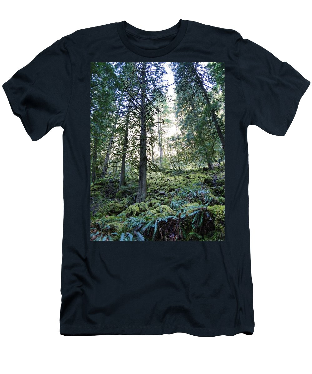 Trees Men's T-Shirt (Athletic Fit) featuring the photograph Treequility by Athena Mckinzie