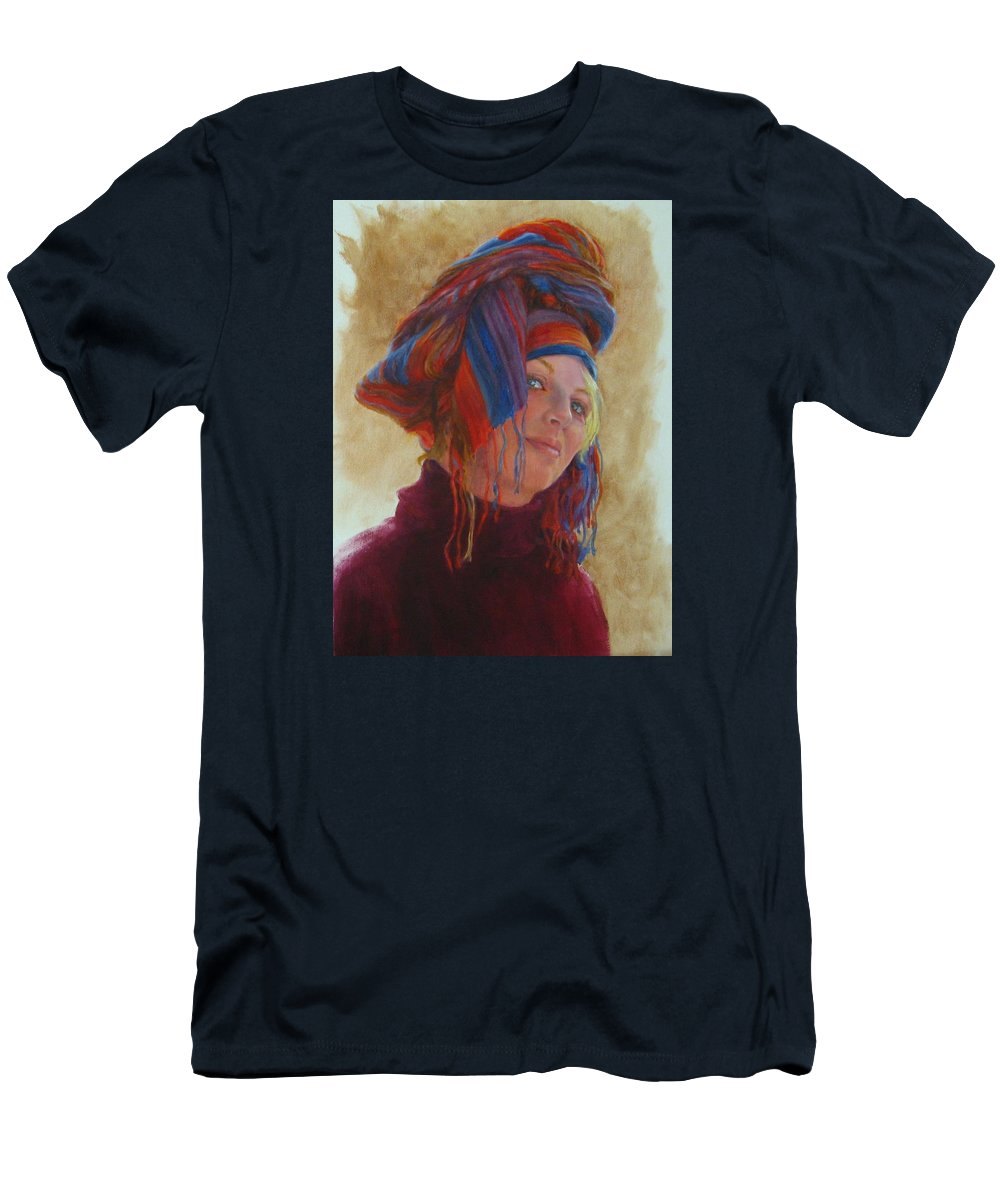 Figurative Men's T-Shirt (Athletic Fit) featuring the painting Turban 2 by Connie Schaertl