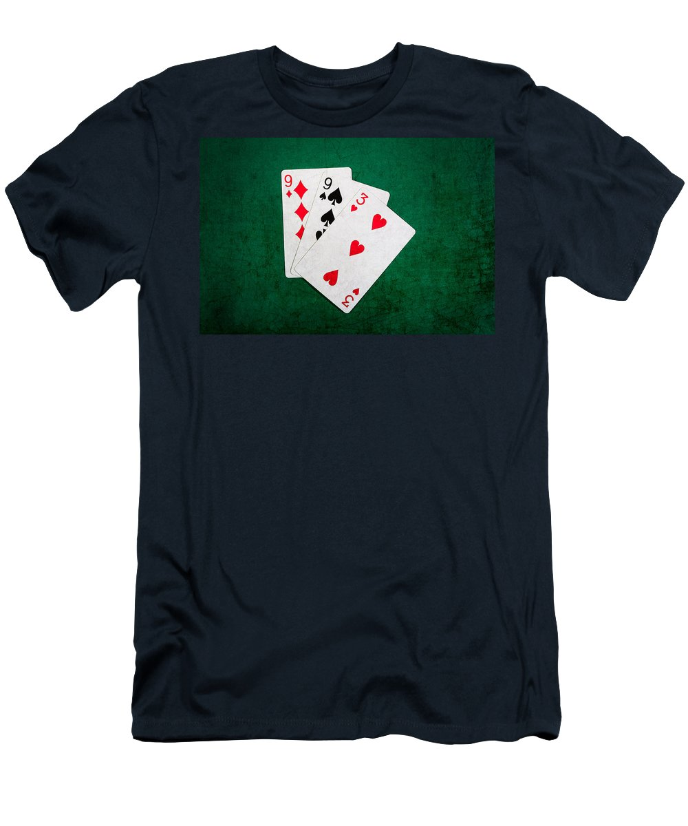 Blackjack Men's T-Shirt (Athletic Fit) featuring the photograph Twenty One 10 by Alexander Senin