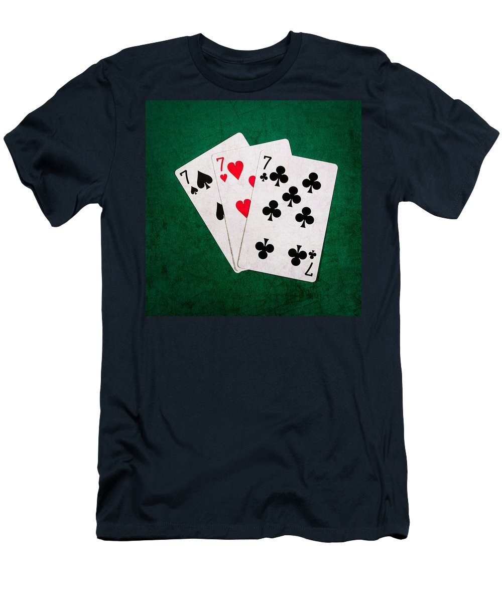 Blackjack Men's T-Shirt (Athletic Fit) featuring the photograph Twenty One 12 - Square by Alexander Senin