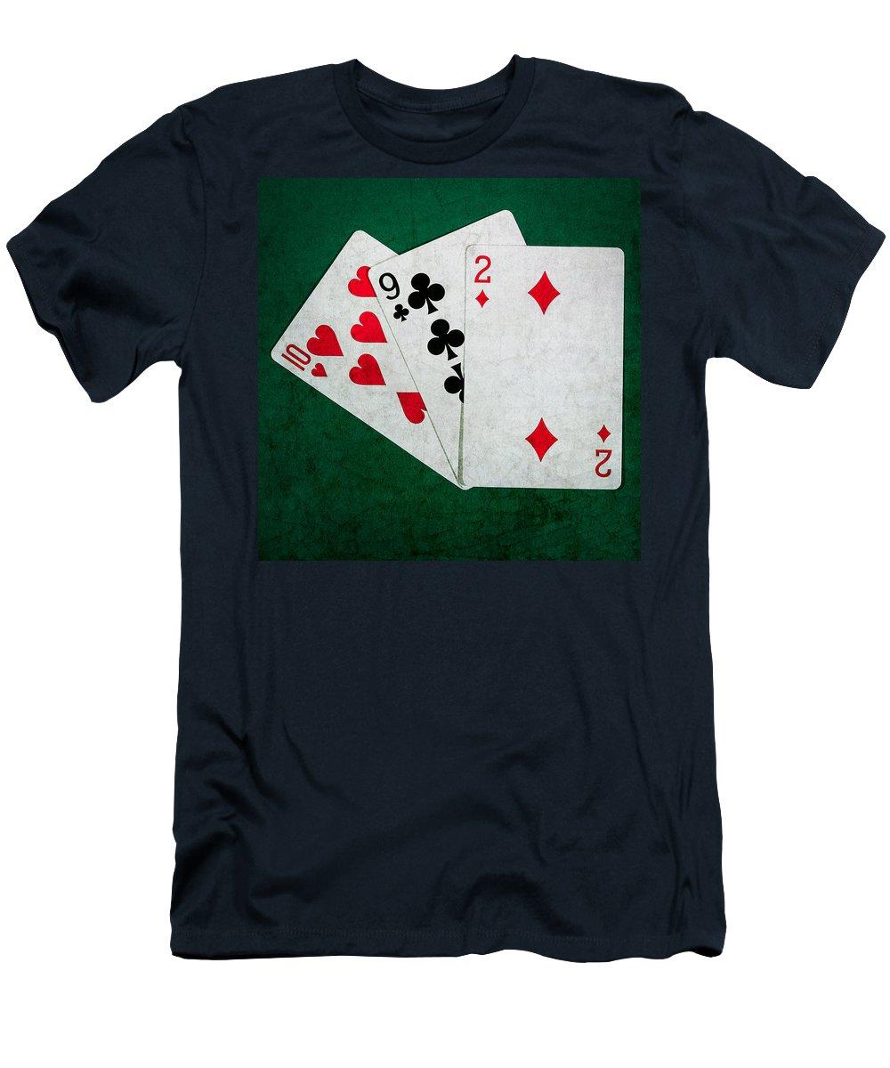 Blackjack Men's T-Shirt (Athletic Fit) featuring the photograph Twenty One 9 - Square by Alexander Senin