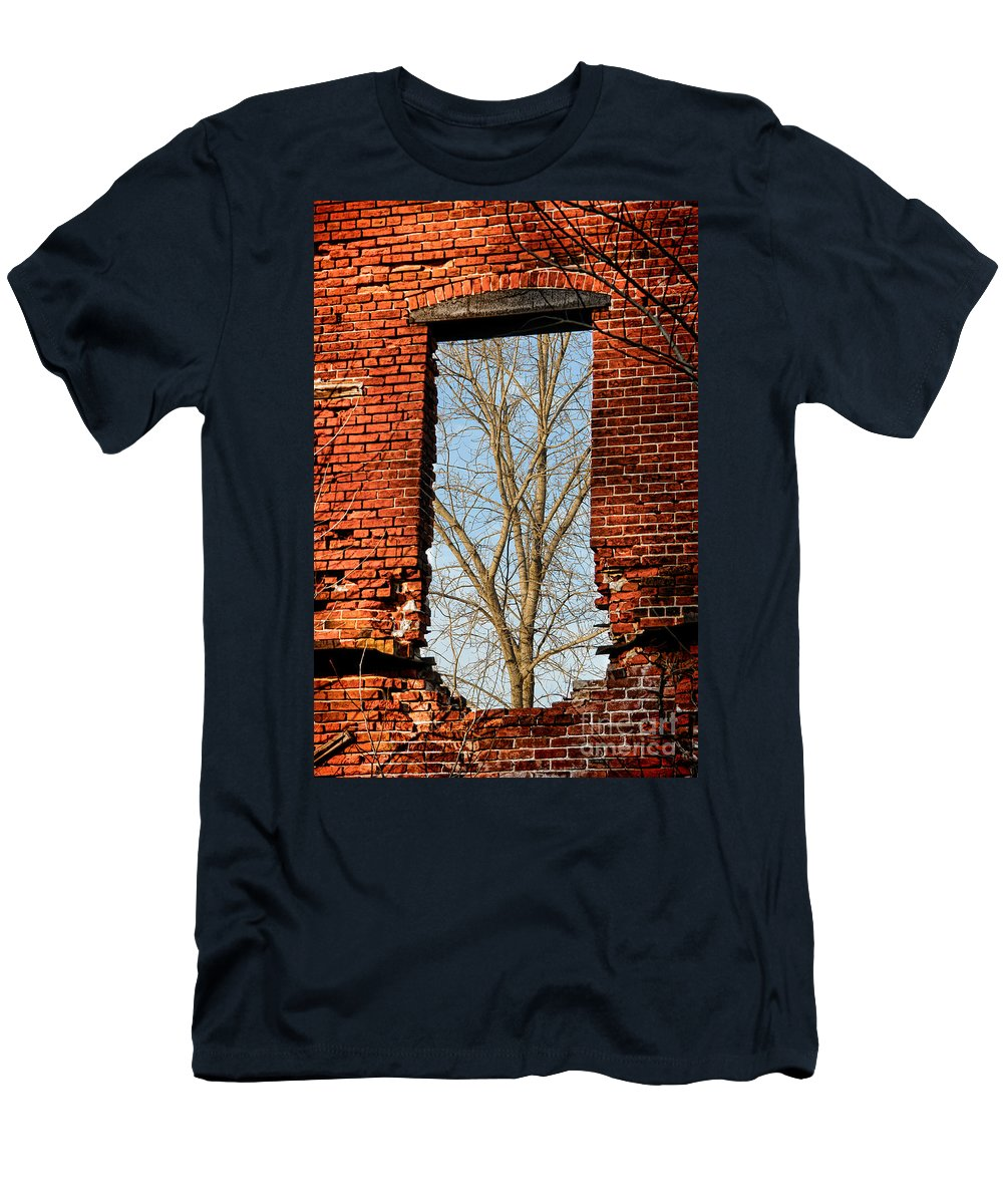 Window Men's T-Shirt (Athletic Fit) featuring the photograph Urban Decay by Olivier Le Queinec