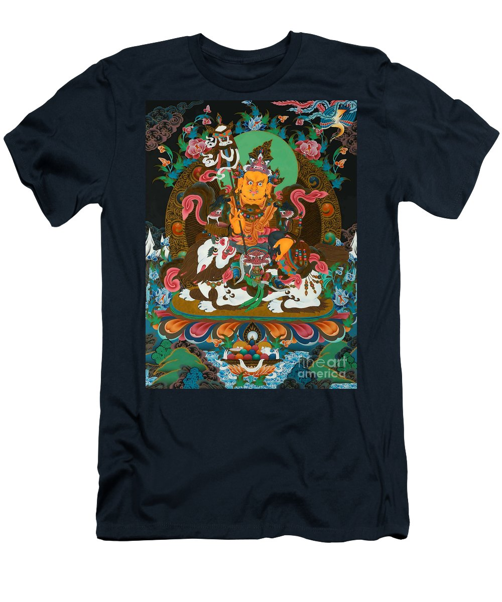 Treasurer Of The Gods Kubera Men's T-Shirt (Athletic Fit) featuring the photograph Vaishravnna 22 by Jeelan Clark