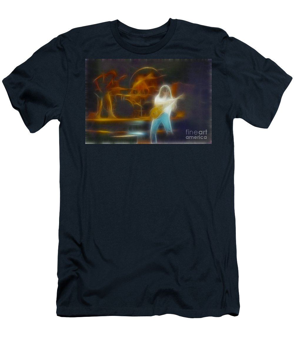 Music Men's T-Shirt (Athletic Fit) featuring the photograph Van Halen-91-ge7a-fractal by Gary Gingrich Galleries