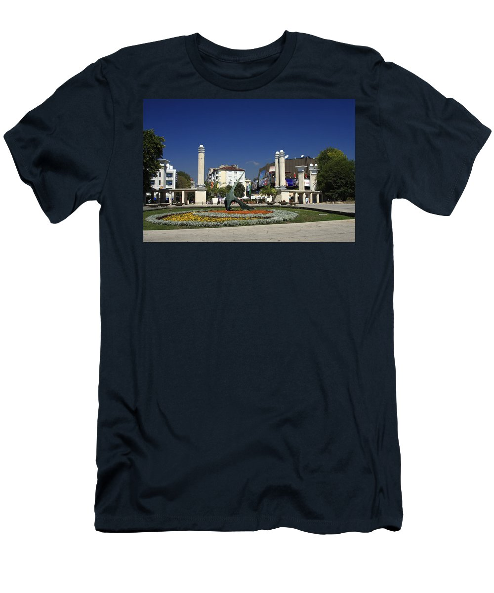 Garden Men's T-Shirt (Athletic Fit) featuring the photograph Varna Bulgaria by Sally Weigand