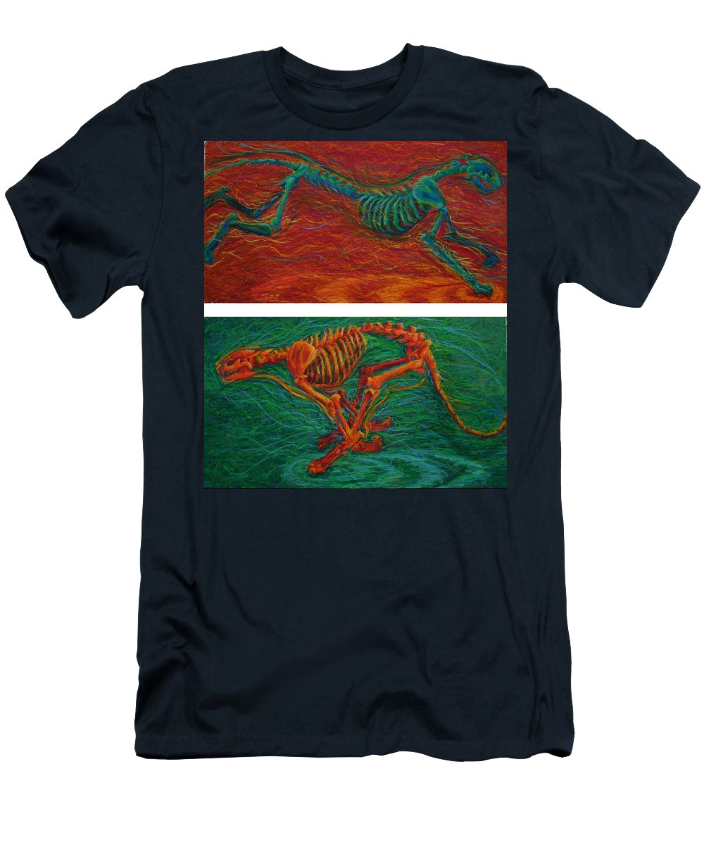 Bones Men's T-Shirt (Athletic Fit) featuring the painting Velocity Ferocity by Codyrose Bowden