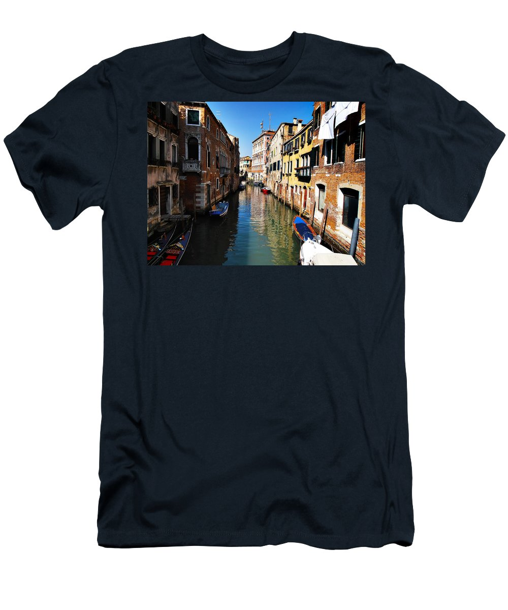 Venice Men's T-Shirt (Athletic Fit) featuring the photograph Venice Canal by Bill Cannon