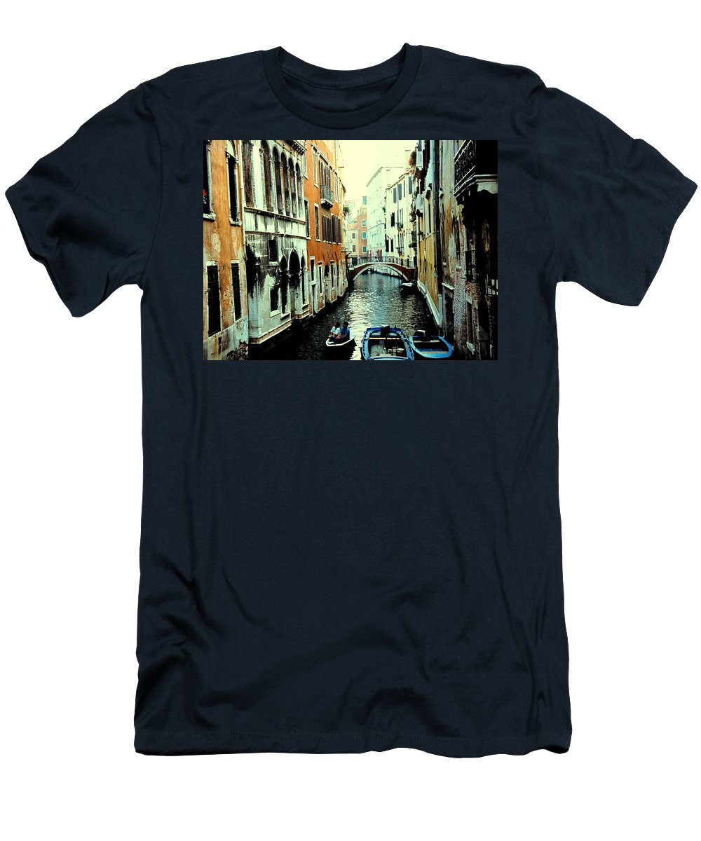 Venice Men's T-Shirt (Athletic Fit) featuring the photograph Venice Street Scene by Ian MacDonald