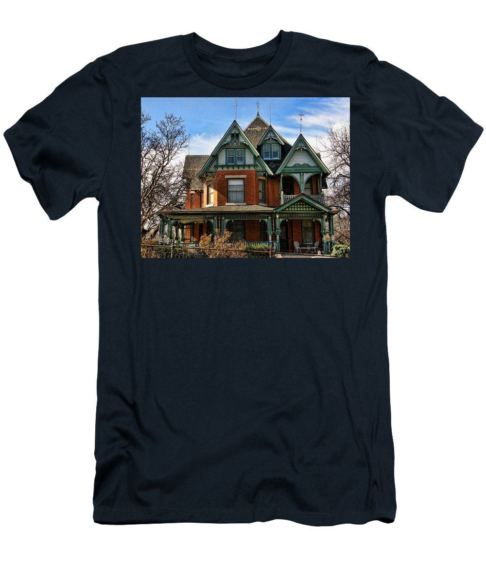 Victorian House Men's T-Shirt (Athletic Fit) featuring the photograph Victorian House by Shannon Story
