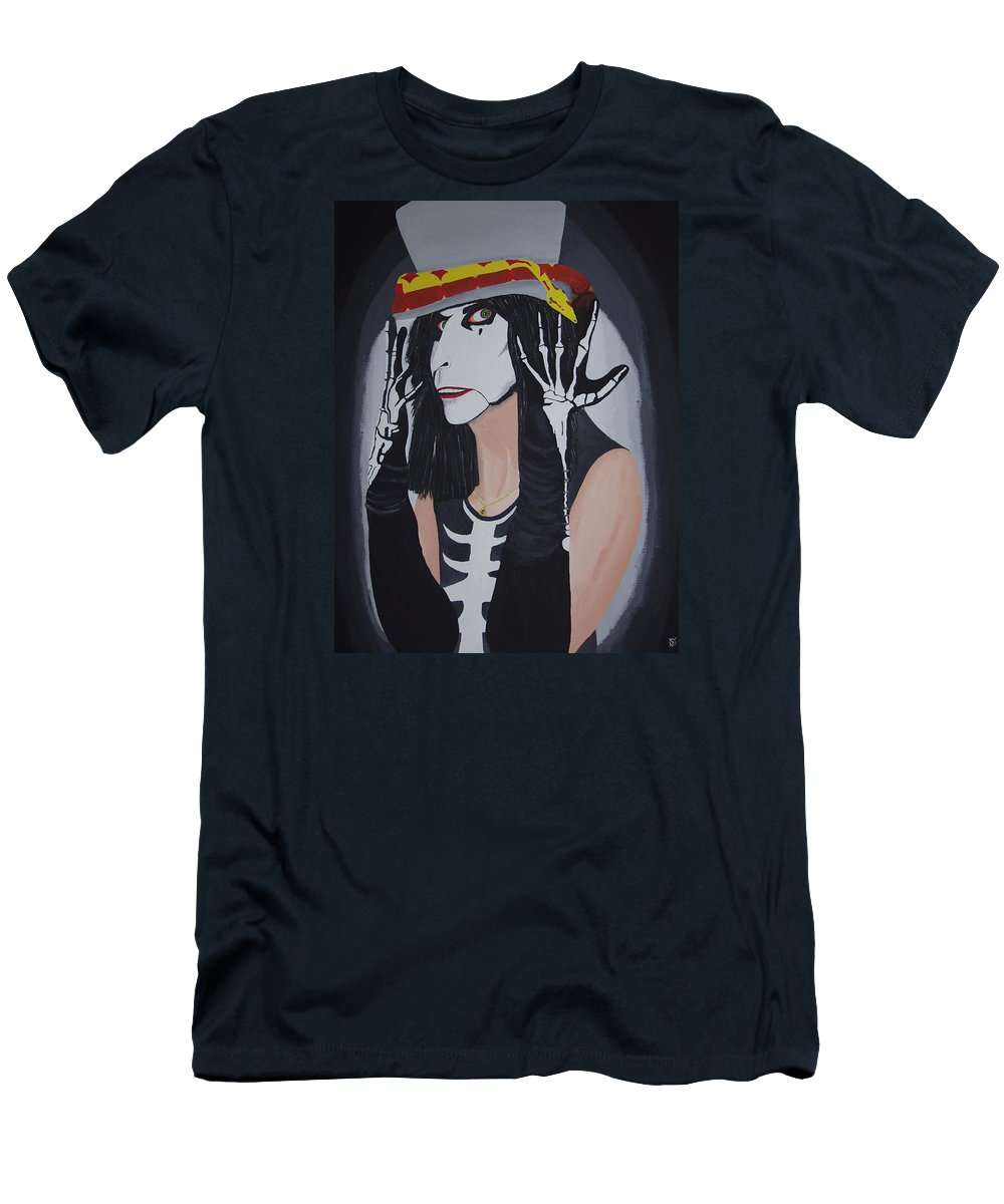 Crazy Men's T-Shirt (Athletic Fit) featuring the painting Vincent by Dean Stephens