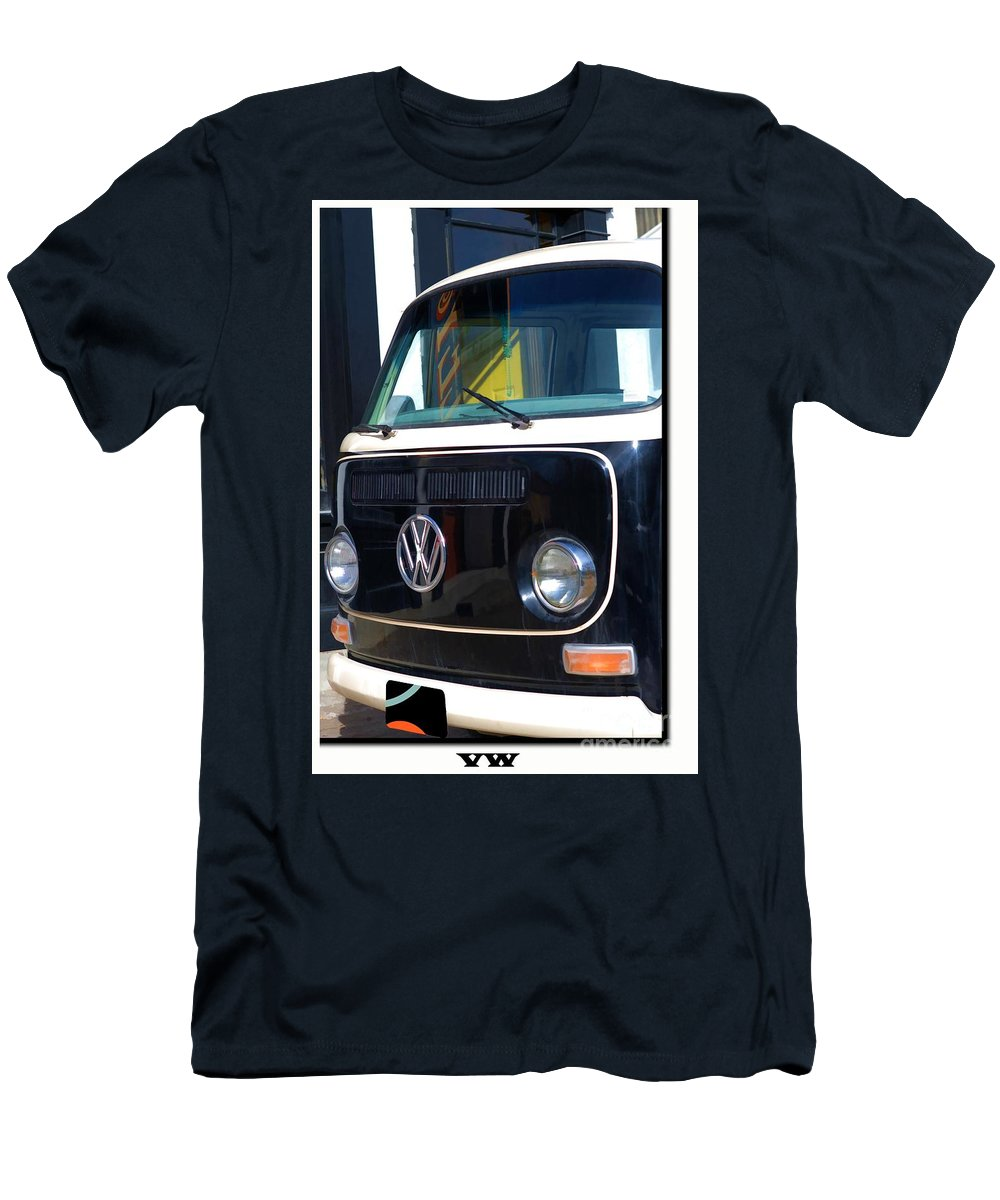 Vw Van Men's T-Shirt (Athletic Fit) featuring the photograph Vw Van by Liane Wright