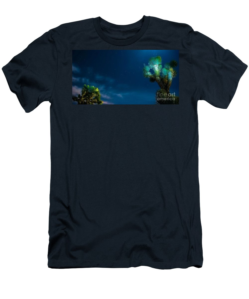 Desert Stars Men's T-Shirt (Athletic Fit) featuring the photograph Waiting.... by Angela J Wright