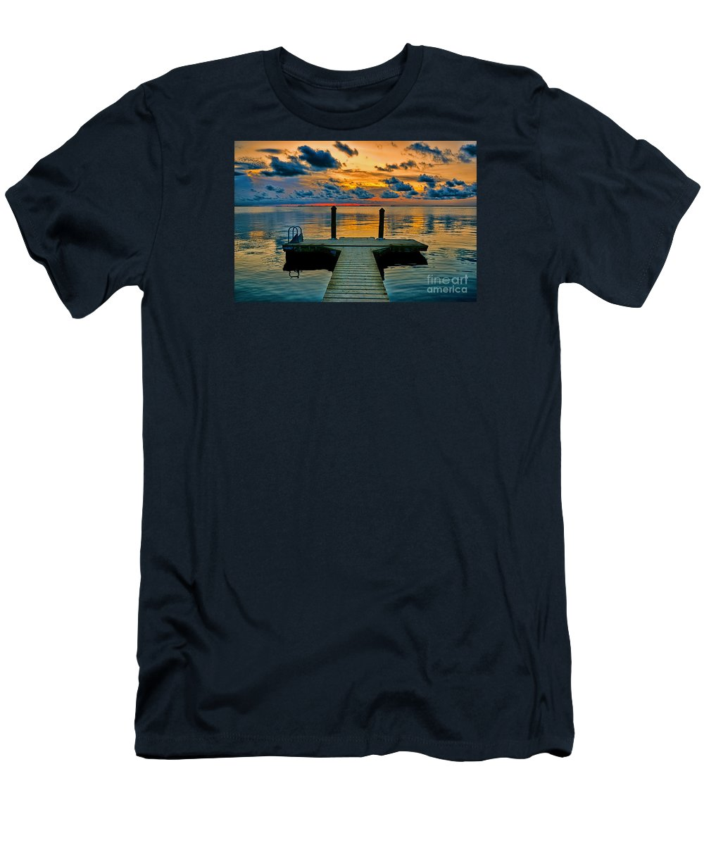 Sunset Men's T-Shirt (Athletic Fit) featuring the photograph Walking Into The Sunset by Olga Hamilton