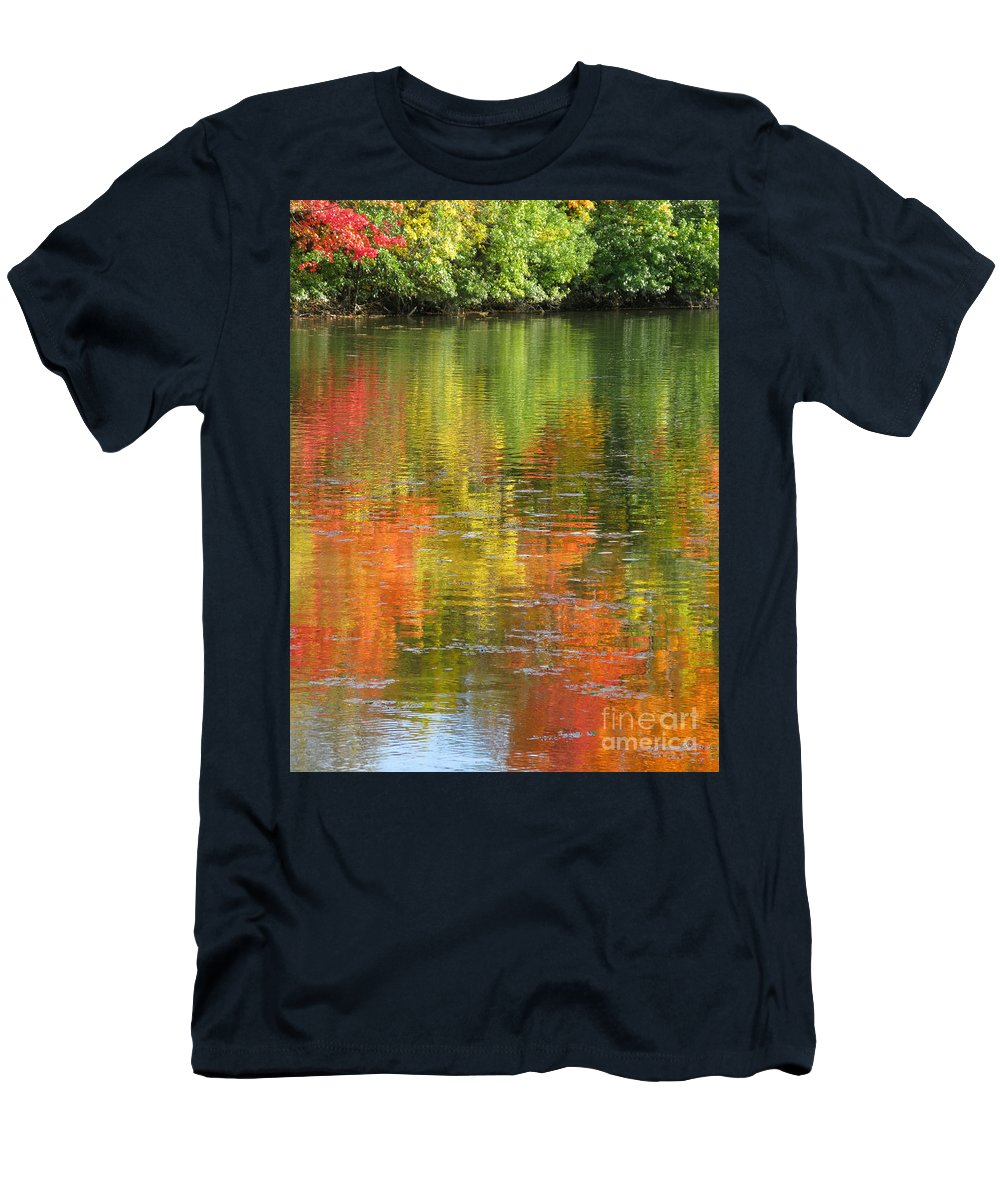Autumn Men's T-Shirt (Athletic Fit) featuring the photograph Water Colors by Ann Horn