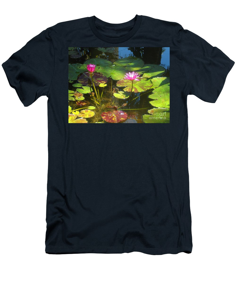 Water Men's T-Shirt (Athletic Fit) featuring the photograph Water Lilly Garden by Jennifer Lavigne