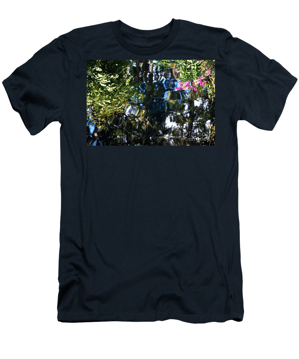 Pond Men's T-Shirt (Athletic Fit) featuring the photograph Water Reflections 8 by Nancy Mueller