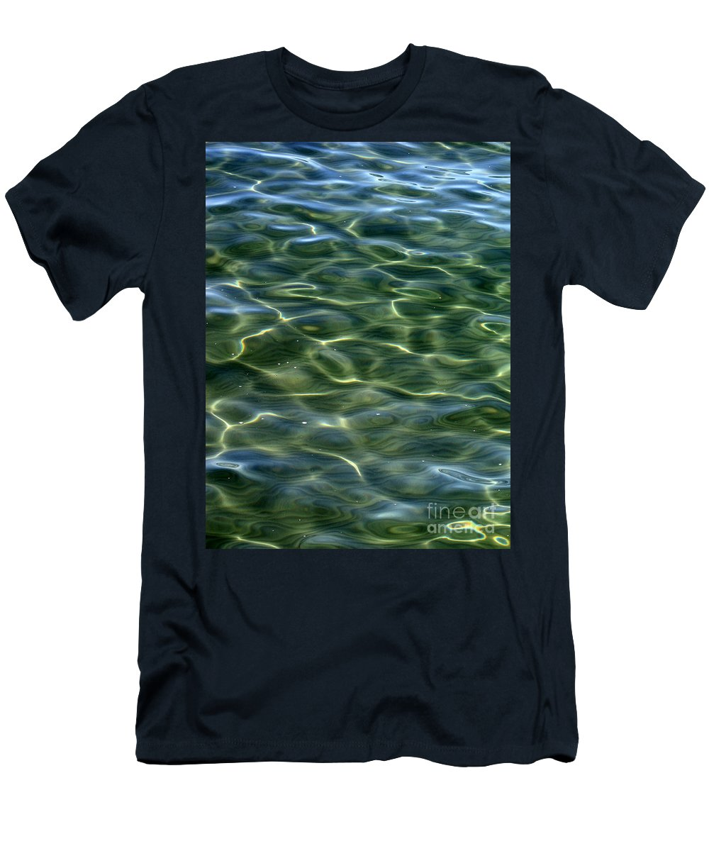Water Men's T-Shirt (Athletic Fit) featuring the photograph Waves On Lake Tahoe by Carol Groenen
