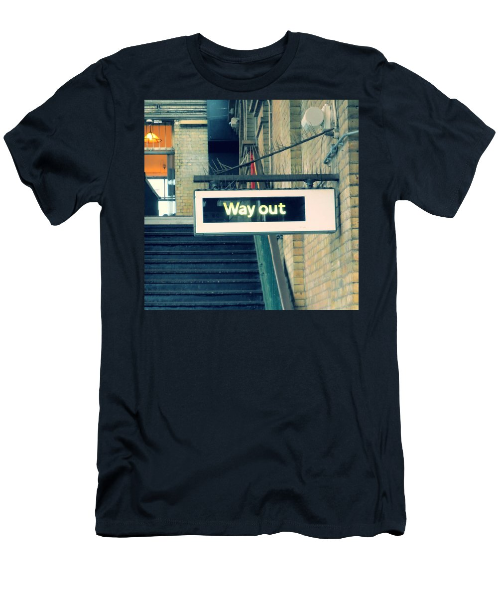 Way Out Men's T-Shirt (Athletic Fit) featuring the photograph Way Out by Gia Marie Houck