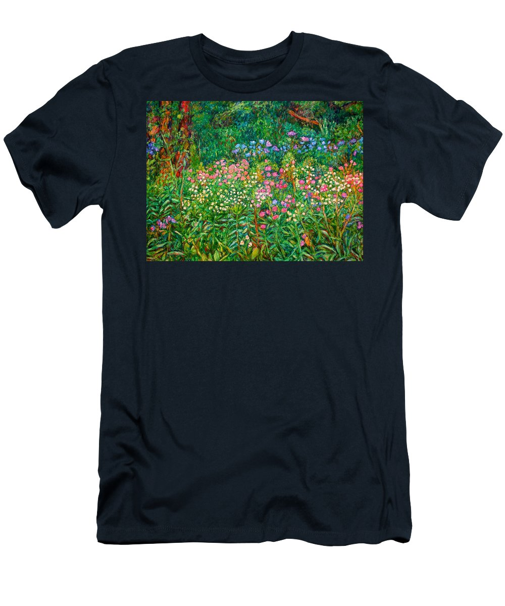Floral Men's T-Shirt (Athletic Fit) featuring the painting Wildflowers Near Fancy Gap by Kendall Kessler