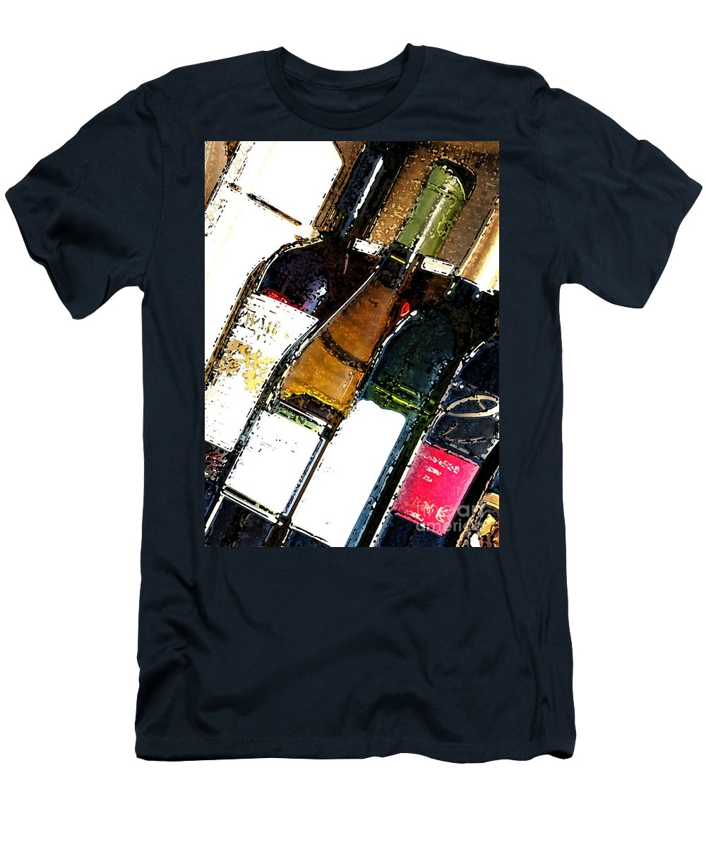 Case Men's T-Shirt (Athletic Fit) featuring the photograph Wine In A Row by Flamingo Graphix John Ellis