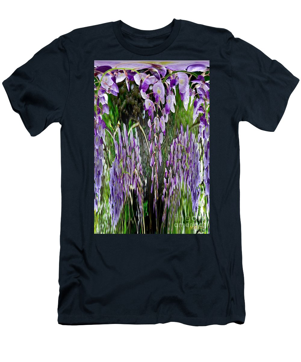 Wisteria Men's T-Shirt (Athletic Fit) featuring the photograph Wisteria Abstract by Jeff McJunkin