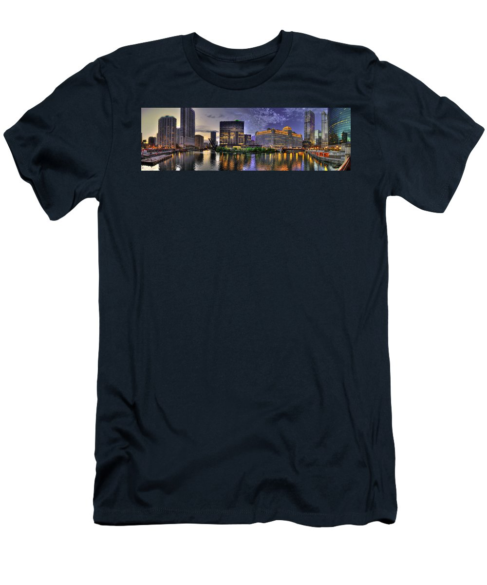 Sks Men's T-Shirt (Athletic Fit) featuring the photograph Wolf Point Panorama by Steven K Sembach