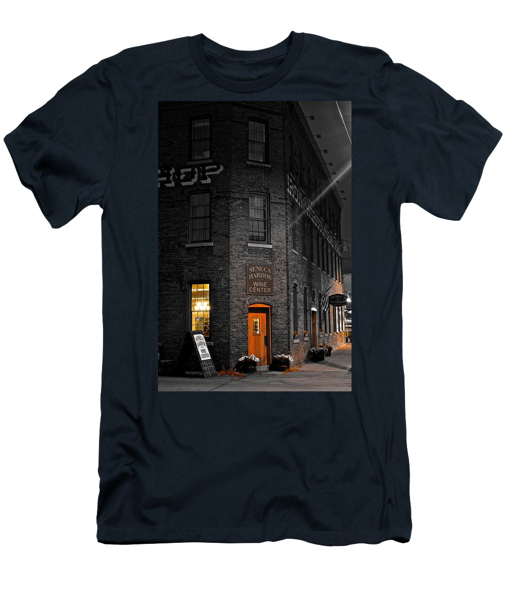 Working Men's T-Shirt (Athletic Fit) featuring the photograph Working Late by Frozen in Time Fine Art Photography