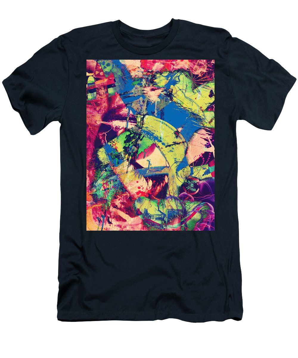 Abstract Art Men's T-Shirt (Athletic Fit) featuring the photograph Your Eyes Minus by The Artist Project