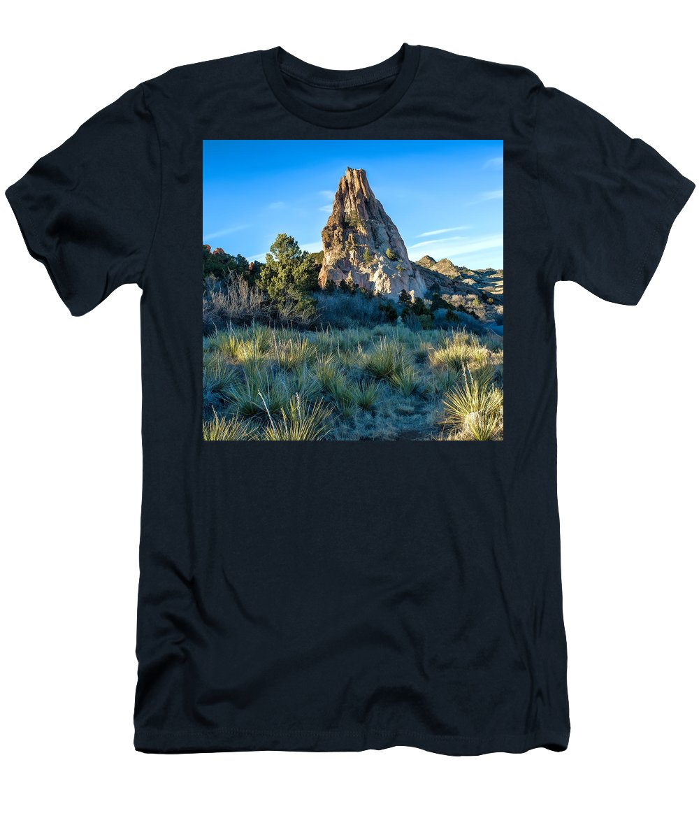 Dan Sabin Men's T-Shirt (Athletic Fit) featuring the photograph Yucca Uprising by Dan Sabin