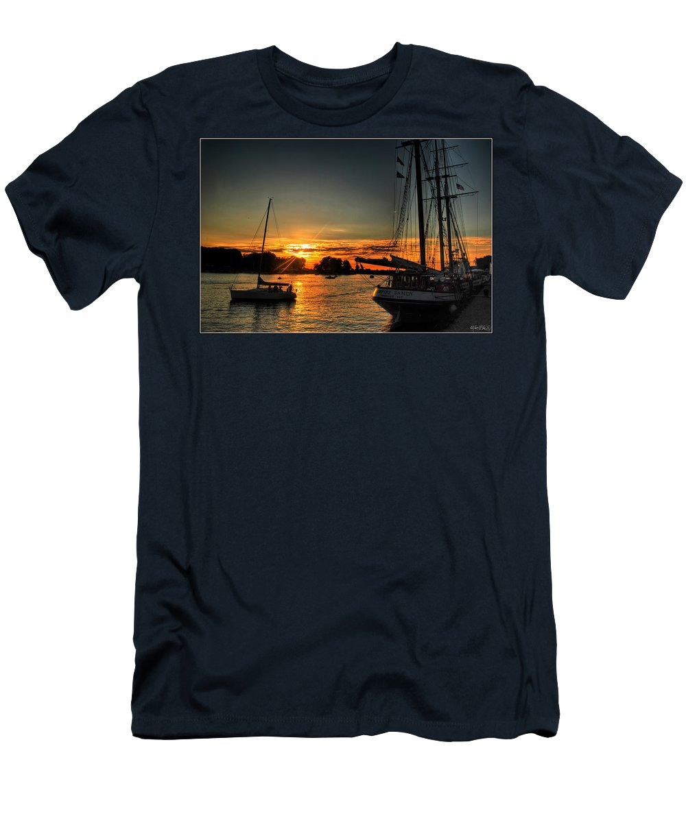 Men's T-Shirt (Athletic Fit) featuring the photograph 011 Empire Sandy Series by Michael Frank Jr