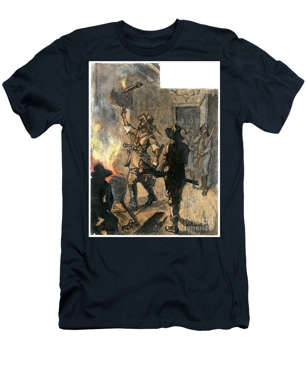 1676 Men's T-Shirt (Athletic Fit) featuring the photograph Bacons Rebellion, 1676 by Granger
