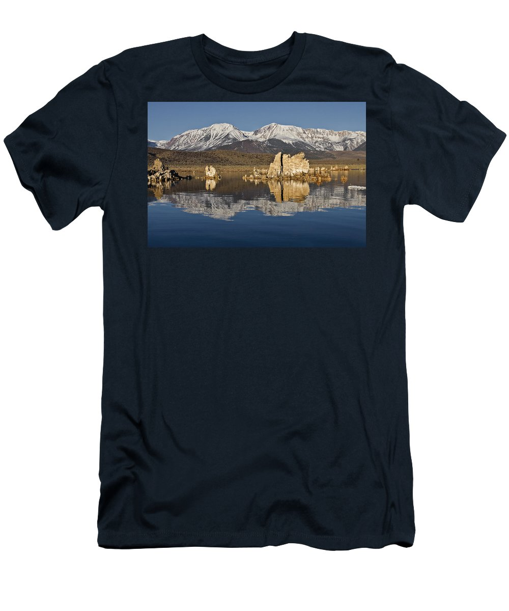 Mono Glow Men's T-Shirt (Athletic Fit) featuring the photograph Mono Glow by Wes and Dotty Weber