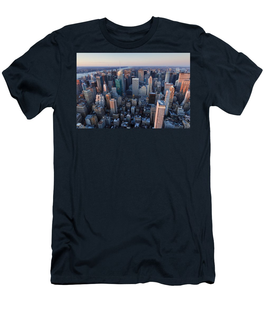 America Men's T-Shirt (Athletic Fit) featuring the photograph View From Empire State Building by MakenaStockMedia