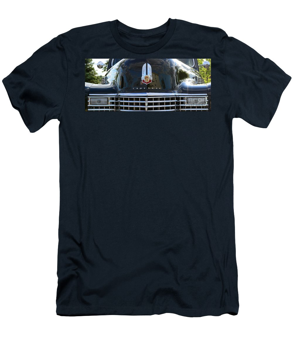 1941 Cadillac Men's T-Shirt (Athletic Fit) featuring the photograph 1941 Cadillac Grill by Paul Ward