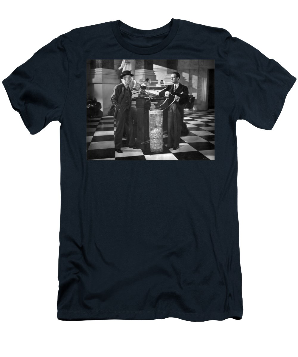 -banks & Banking- Men's T-Shirt (Athletic Fit) featuring the photograph Silent Still: Banking by Granger