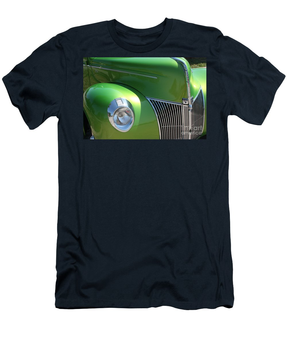 1940 Men's T-Shirt (Athletic Fit) featuring the photograph 40 Ford - Front Pass Angle-8651 by Gary Gingrich Galleries