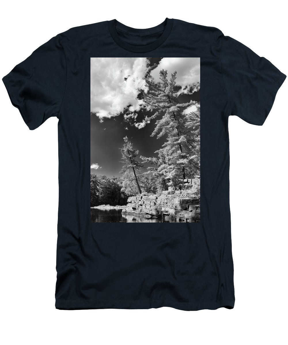 Ausable Chasm Men's T-Shirt (Athletic Fit) featuring the photograph Ausable Chasm 1621 by Guy Whiteley