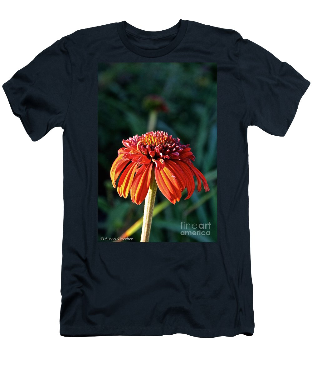 Outdoors Men's T-Shirt (Athletic Fit) featuring the photograph Autumn's Cone Flower by Susan Herber