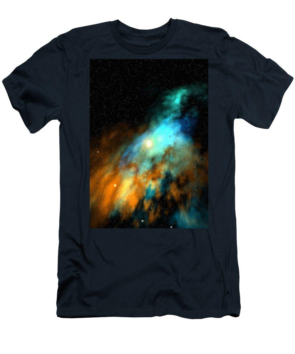 Nebula Space Art T-Shirt featuring the digital art Beducas nebula by Robert aka Bobby Ray Howle