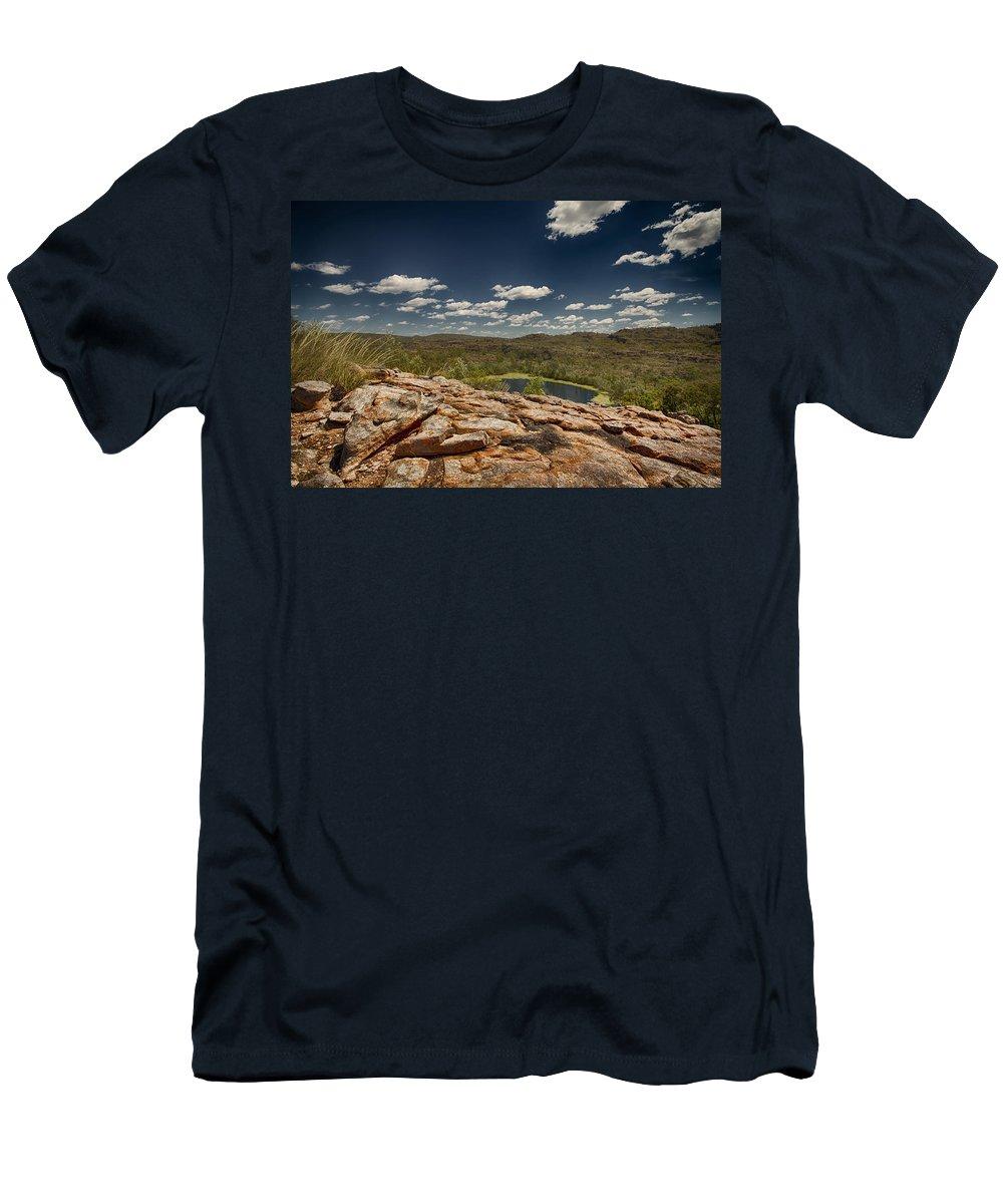 Billabong Men's T-Shirt (Athletic Fit) featuring the photograph Billabong by Douglas Barnard