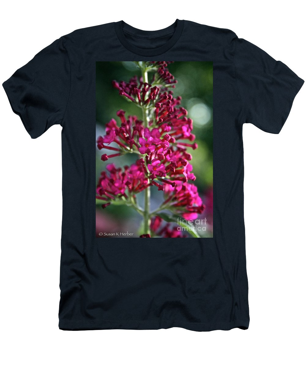 Plant Men's T-Shirt (Athletic Fit) featuring the photograph Butterfly Bush by Susan Herber