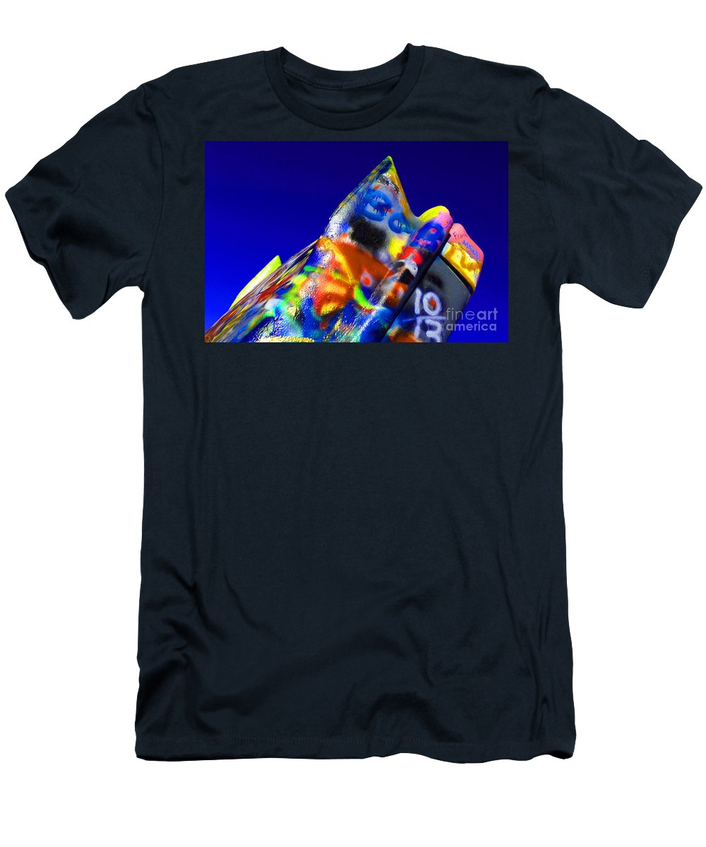 Cadillac Ranch Men's T-Shirt (Athletic Fit) featuring the photograph Cadillac Ranch 2 by Bob Christopher