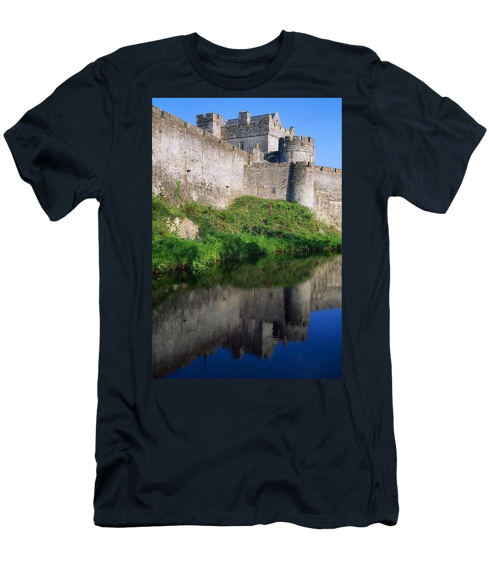 12th Century Men's T-Shirt (Athletic Fit) featuring the photograph Cahir Castle, River Suir, County by The Irish Image Collection